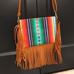 Handbags - ✨New✨Serape Fringe Crossbody!
